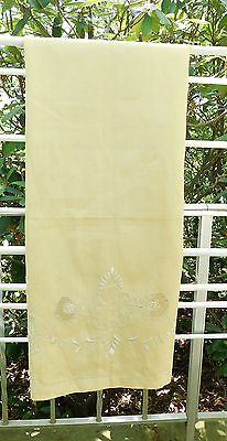 antique cotton linen embroidered Bath towel