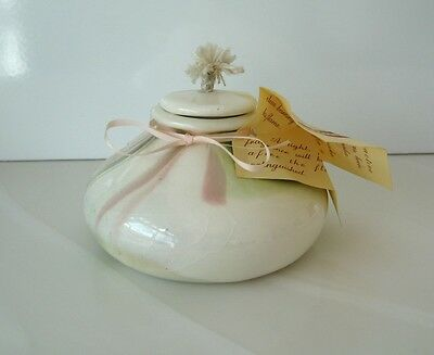ROONKA hand crafted Pottery Scented Oil Lamp Vintage Never Used