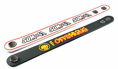 2X SUM 41 & THE OFFSPRING Rubber Wristband Bracelet Free Shipping