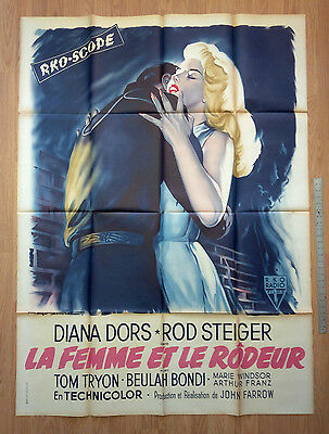 UNHOLY WIFE Orig. 1957 French movie poster * FARROW * ROD STEIGER * DIANA DORS