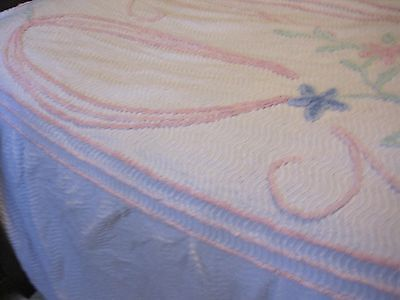 Bedspread Single Bed - Retro / Vintage with skirt/frill