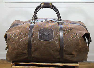 Vintage Ghurka Cavalier III No. 98 Sierra Collection Cocoa Leather Duffle Bag
