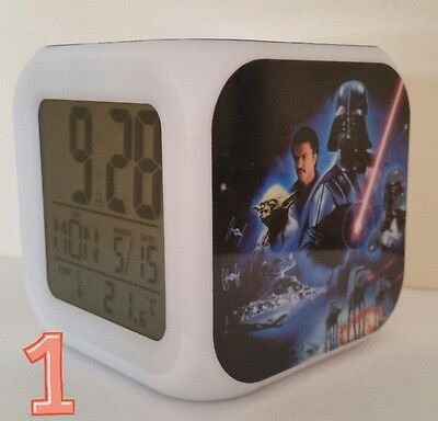 Awesome Star Wars Alarm Clock - 5 designs to chose from - kids