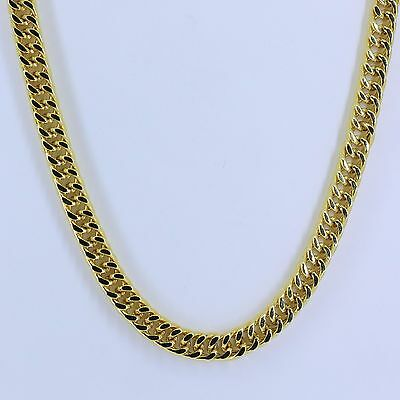 6mm High Quality 18K Gold 316L Stainless Steel Curb Cuban Chain Necklace 30""
