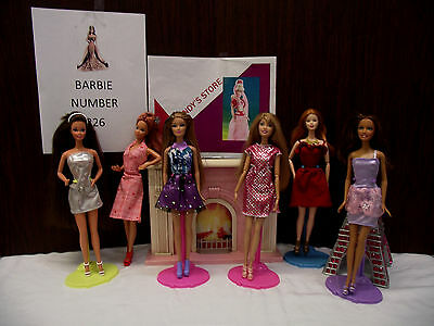 Barbie doll lot of six number 226 sassy ladies