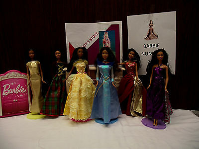 Barbie doll lot of six number 229  fashion show glam