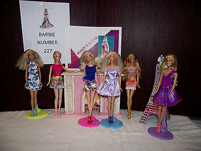 Barbie doll lot of six number 227 young & going gals