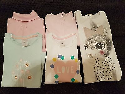 5 x size 3 girl long sleeve tops H&m and Target