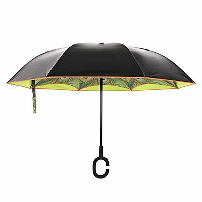 DOLIROX Windproof Reverse Folding Double Layer Inverted Umbrella and Rain Protec