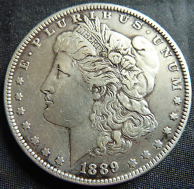 1889 United States USA Morgan Dollar 90% Silver Coin