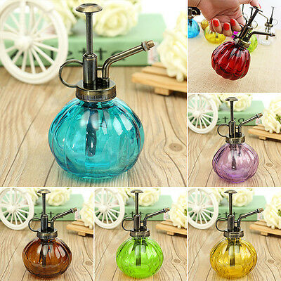 5 Color Glass Plant Flower Watering Pot Spray Bottle Garden Hairdressing Sprayer