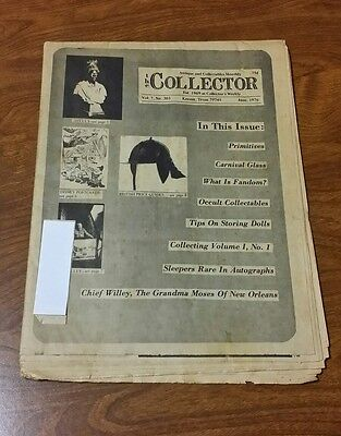 Vintage 1976 The Collector Antiques & Collectibles Monthly