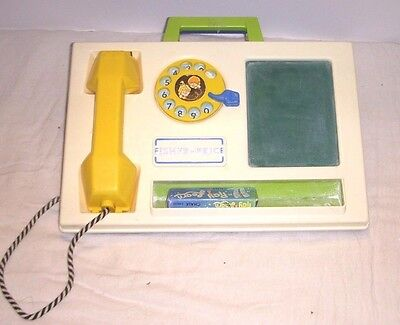 Vintage Fisher Price Telephone & Chalkboard Desk - 1978 Excellent Condition #153