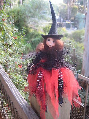 Magical Black Kitchen Witch - Hand Made By Conny