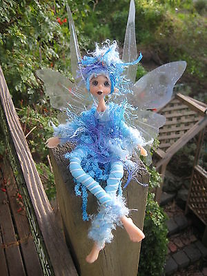 Magical Party Elf (Blue) - Hand made By Conny