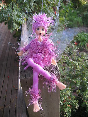 Magical Party Elf (Mauve) - Hand made By Conny