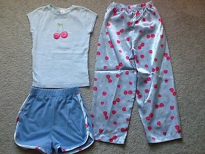 Girl's Carter's 3-Piece Pajama Set Size 5 - Short-Sleeve Shirt,Shorts,Pants