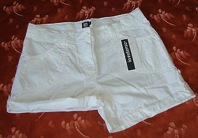 Short Coton Blanc Taille Ajustable In Extenso 14 Ans Neuf