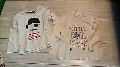 2 tshirts manches longues taille 4 ans