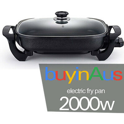 SOGA Non-Stick Electric Fry Pan 39CM Cooking Frypan Nonstick