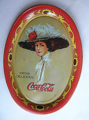 Vintage 1978 COCA-COLA TIN TIP TRAY CANADIAN EDITION REPRODUCTION OF 1909