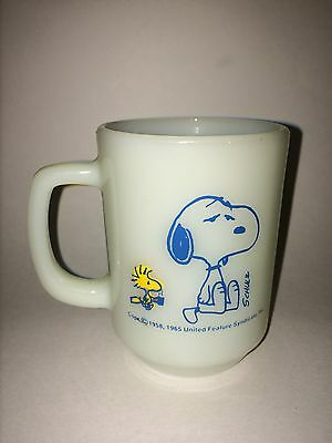 Vintage 1965 Snoopy Woodstock Peanuts Anchor Oven Proof Mug 4""