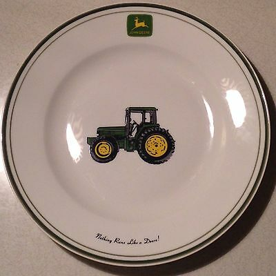 "JOHN  DEERE (Tractor) Dinner Plate  11"" by Gibson (Retired)"