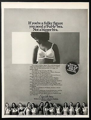 1973 Vintage Print Ad 1970s EXQUISITE FORM Bra Woman's Fashion Underwear