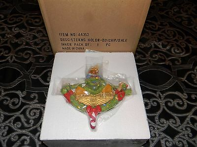 HTF Disney Direct Donald Duck and Chip and Dale Christmas Stocking Holder NIB