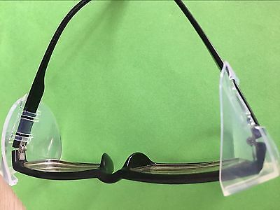 LOT 3pairs clear flexible side shields for safety glasses eye glasses clip on