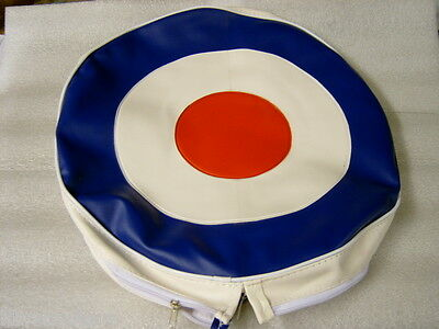 """Mod Target Spare Wheel Cover With Half Zip Fastening Fits Vespa """"free Postage"""""""