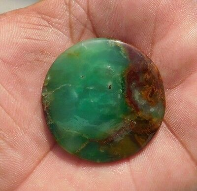 68.2 Cts 100% Natural  Wonderfull Green Chrysoprase 42X42X4 mm Cabochon