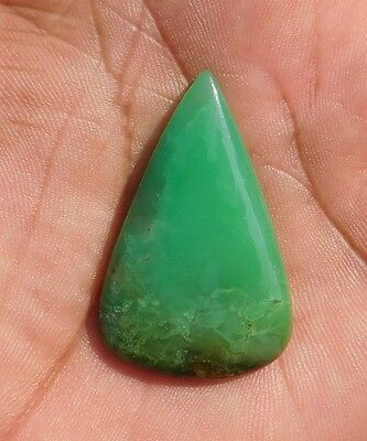 38.4 Cts Genuine? Finest Green Chrysoprase 40X25X5 mm Cabochon Gemstone