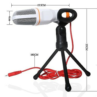 CONMDEX Condenser Microphone With Tripod Stand for PC Laptop Android Phones i...