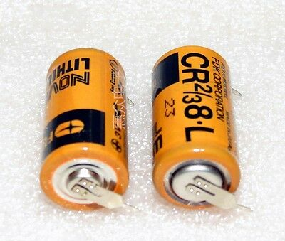 1PC FUJI CR2/3 8.L 3V PLC Battery Soldering foot FDK CR2/38.L F1ST4S #T3435 YS
