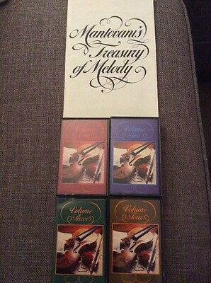 Four Music Cassettes Mantovani's Treasury Of Melody By Readers Digest
