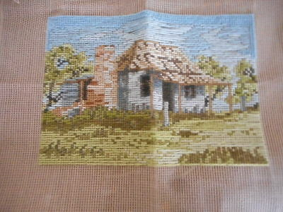 """Tapestry Canvas  Trammed """"old Cottage"""""""