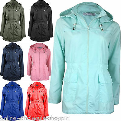 Womens Brave Soul Fishtail Hooded Light weight Ladies Raincoat Jacket Size 8 24