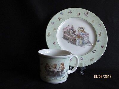 Beautiful Brambly Breakfast Fine China Plate & Cup by Royal Doulton