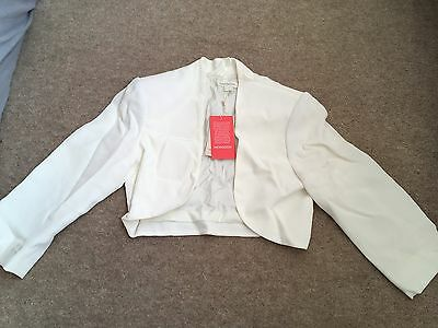 Monsoon Ivory Bolero Size 10