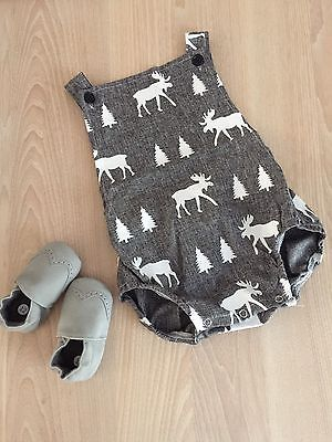 Baby Infant Boys Romper Woodland Theme 6-12 Months