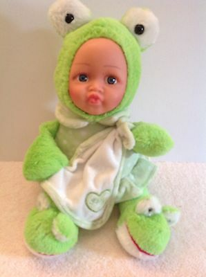 Tamar Frog Baby Doll With Blanket Infant Suitable 35cm Tall VGC