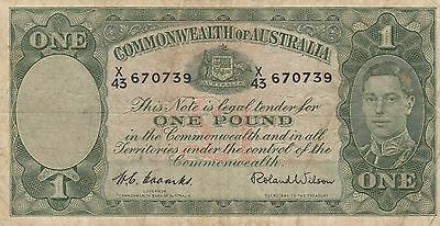 1952  X  Coombs/wilson   One Pound Note   X43--670739