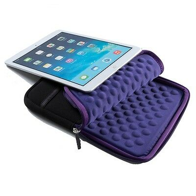 """9.7"""" Laptop Bag For Apple iPad Tablet Mini PC Neoprene Pouch Cover Bags Purple"""