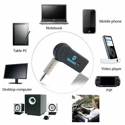 Wireless BLUETOOTH Audio Receiver Adapter Built-in Mic AUX 3.5MM Car Dongle