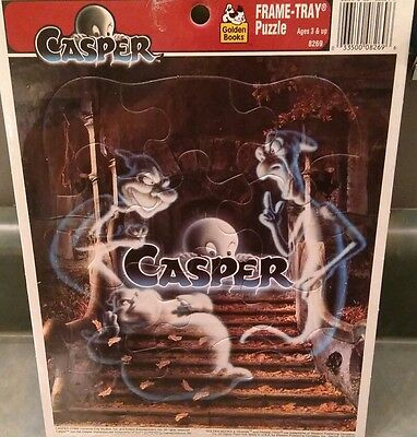 NEW 1995 Casper the Friendly Ghost GoldenBooks Frame Tray Puzzle