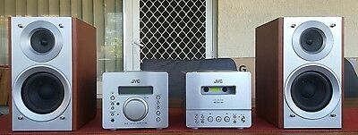 Jvc Micro Mini Hifi Stereo System/cd/aux/made In Japan
