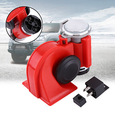 DC 12V Dual Air Horn 130dB Tone Car Blast Compressor Motor Truck Boat Loud Local
