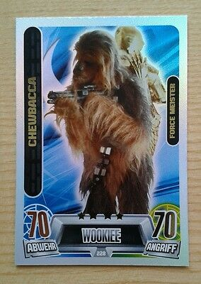 Star Wars Force Attax Movie Serie 2, #228 Chewbacca, Force Meister!