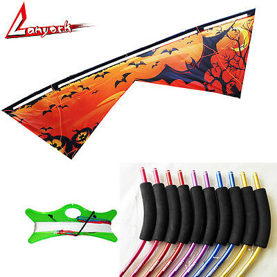 2.4M Lanyork quad line kite Print four line kite with flying line handle outdoor